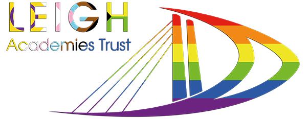 Leigh Academies Trust logo in white